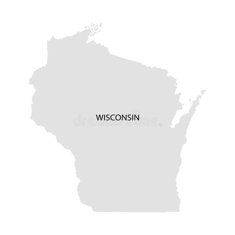 Territorium av Wisconsin Vit bakgrund också vektor för coreldrawillustration vektor illustrationer
