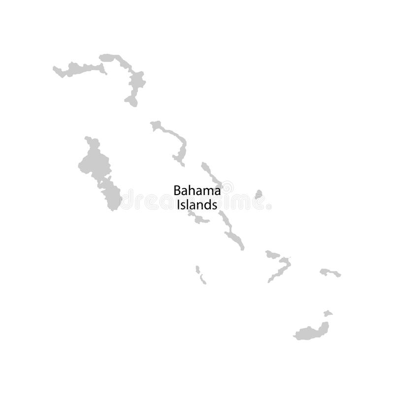 Territory of Bahama Islands, Bahamas. Vector illustration. Territory of Bahama Islands, Bahamas stock illustration