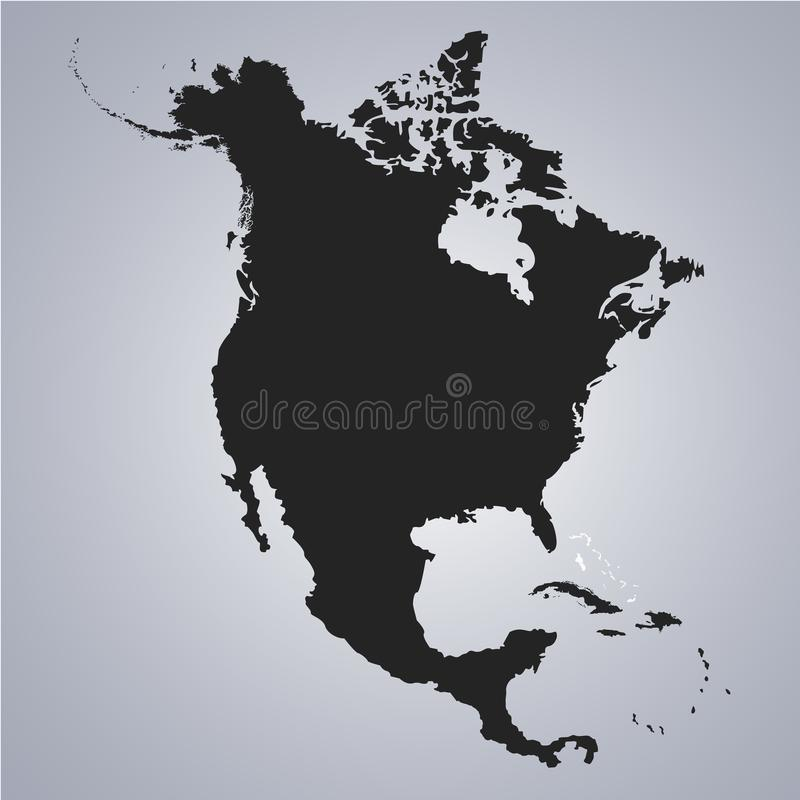 Territory of Bahamas on North America continent map on the grey background vector illustration