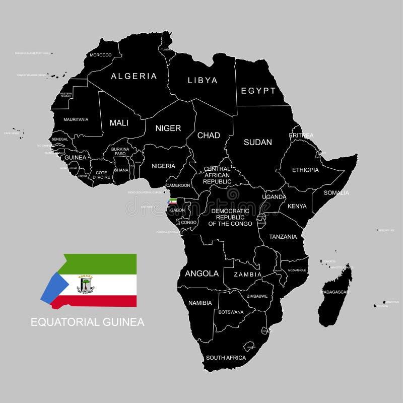 Territory of Equatorial Guinea on Africa continent. Vector illustration. Territory of Equatorial Guinea on Africa continent. Vector royalty free illustration
