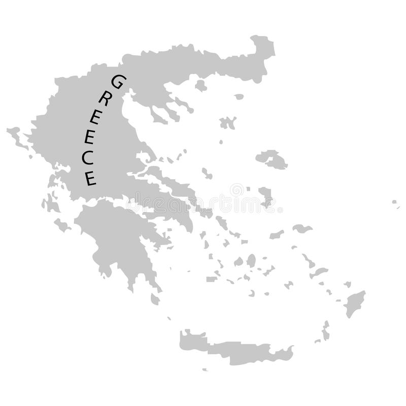 Territory of Greece on a white background stock illustration