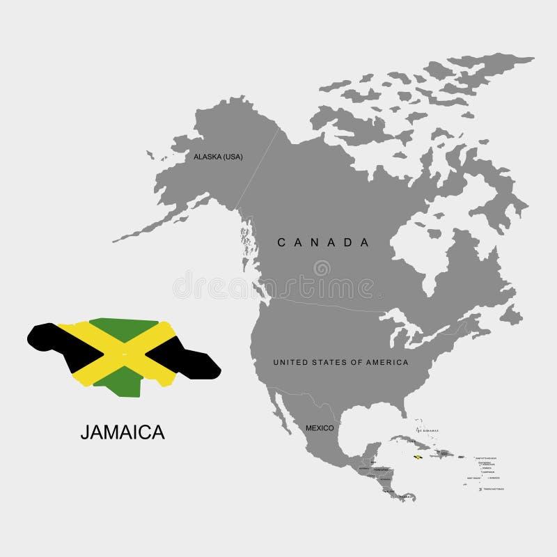 Territory Of Jamaica On North America Continent Flag Of Jamaica