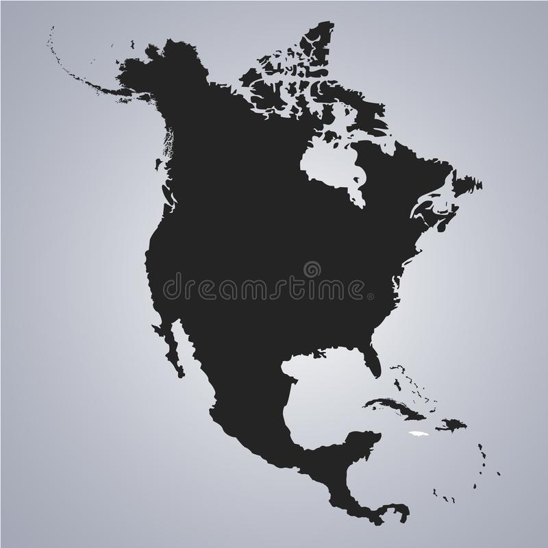 Territory of Jamaica on North America continent map on the grey background. Vector illustration vector illustration