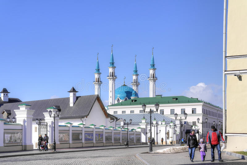 The territory of the Kazan Kremlin stock photography