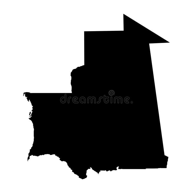 Territory of Mauritania. White background. Vector illustration. Territory of Mauritania. White background. Vector royalty free illustration