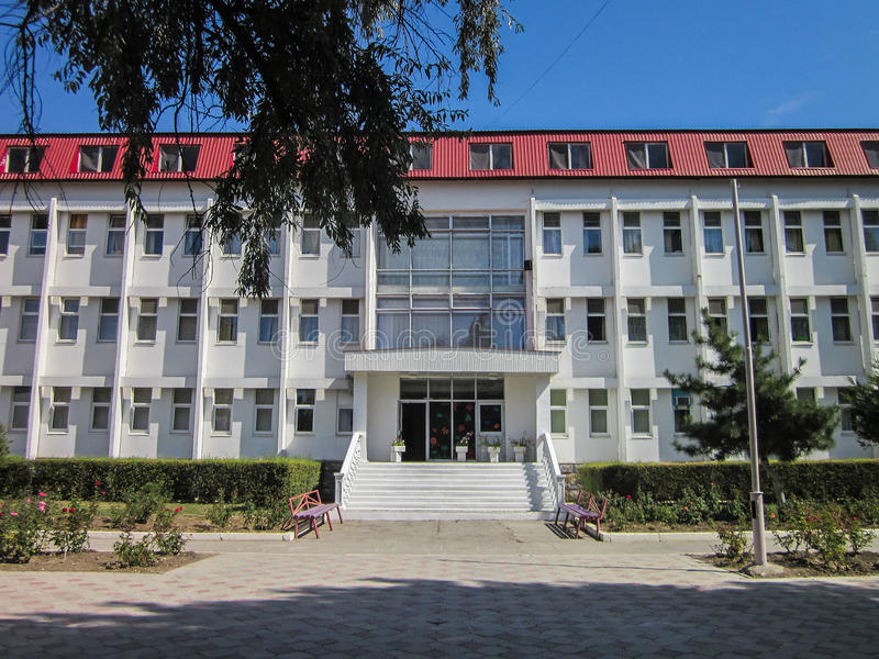 The territory of the sanatorium Vita near the Russian city of Anapa in Krasnodar region. On the Russian coast of the Black Sea has a large number of sanatoria stock images