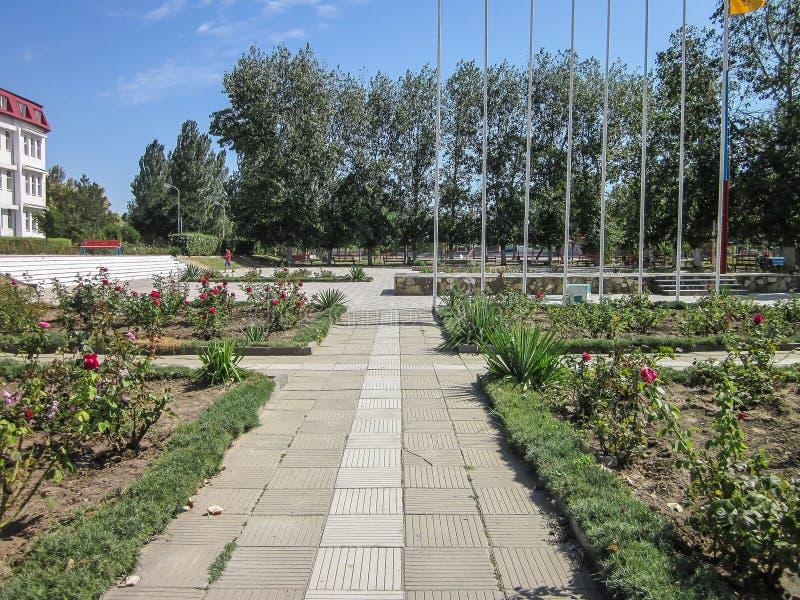 The territory of the sanatorium Vita near the Russian city of Anapa in Krasnodar region. On the Russian coast of the Black Sea has a large number of sanatoria royalty free stock image