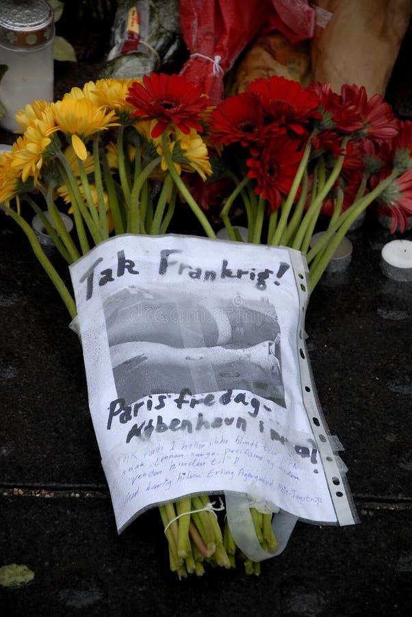 TERROR ATACADO EN PARIS_COPENHAGEN DINAMARCA foto de archivo libre de regalías
