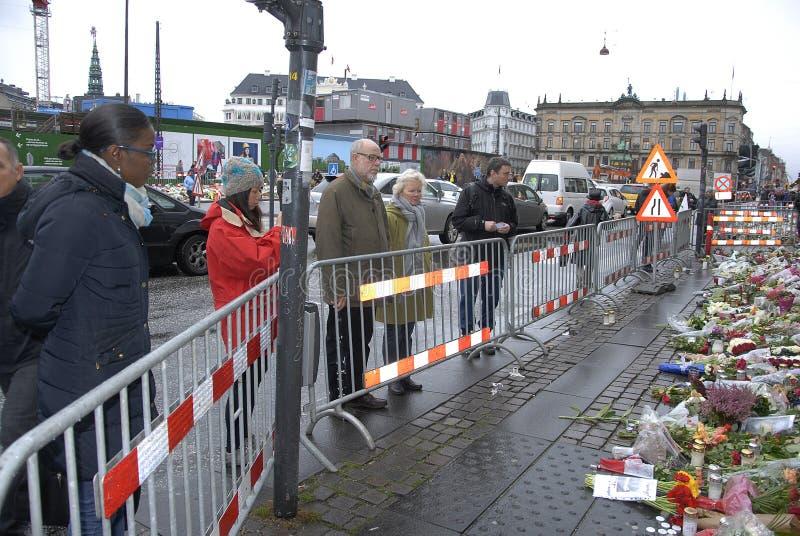 TERROR ATACADO EN PARIS_COPENHAGEN DINAMARCA imagenes de archivo