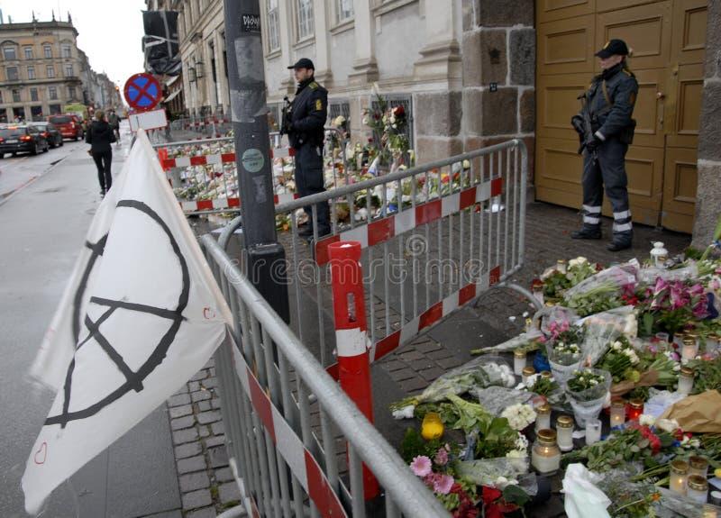 TERROR ATACADO EN PARIS_COPENHAGEN DINAMARCA imagen de archivo