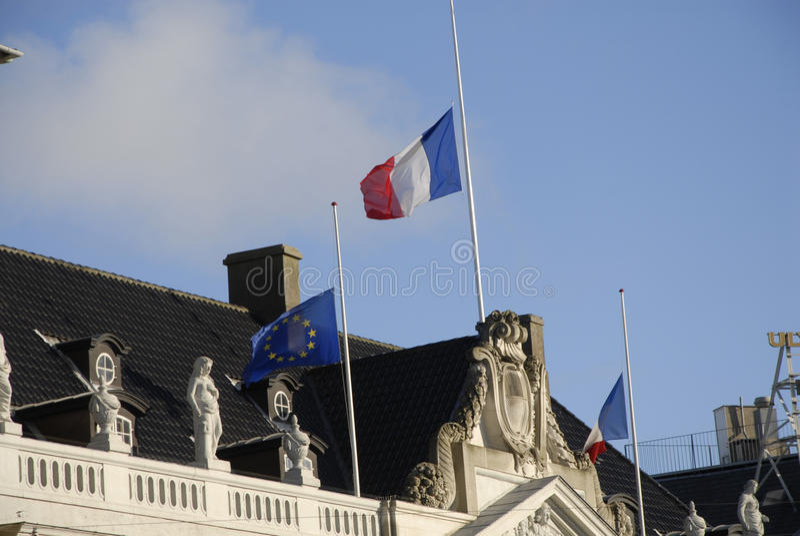 TERROR ATACADO EN PARIS_COPENHAGEN DINAMARCA fotografía de archivo libre de regalías