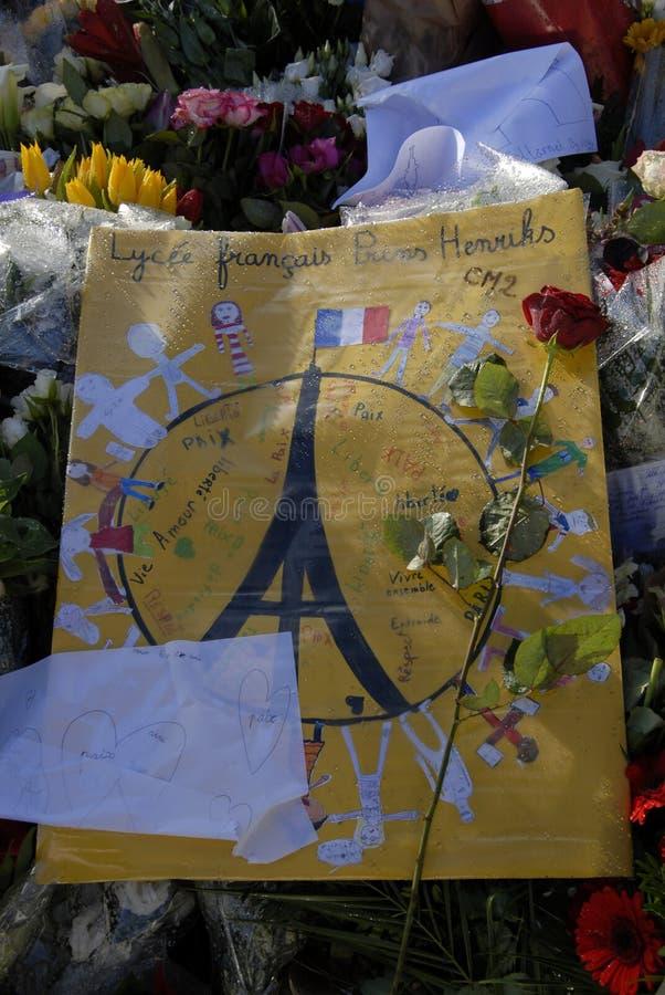 TERROR ATACADO EN PARIS_COPENHAGEN DINAMARCA fotografía de archivo