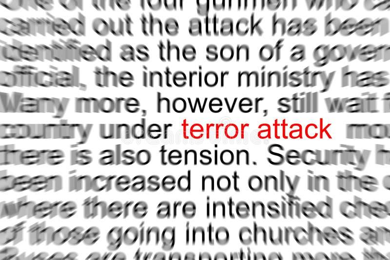 Terror Attack. Written in a Newspaper vector illustration