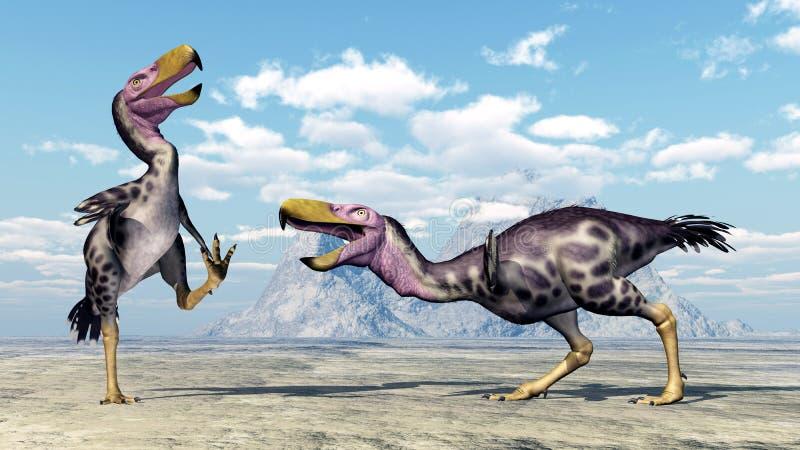 Terror Bird Kelenken. Computer generated 3D illustration with the prehistoric Terror Bird Kelenken stock illustration