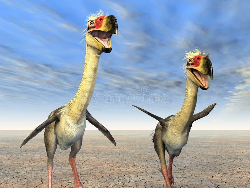 Terror Bird Phorusrhacos. Computer generated 3D illustration with the Terror Bird Phorusrhacos vector illustration