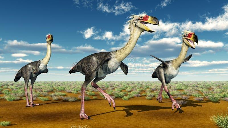 Terror Bird Phorusrhacos. Computer generated 3D illustration with the prehistoric terror bird Phorusrhacos stock illustration