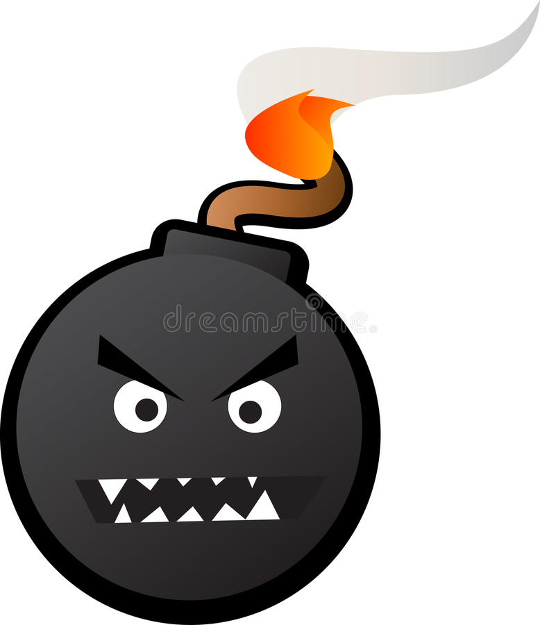 Terror bomba ilustracji