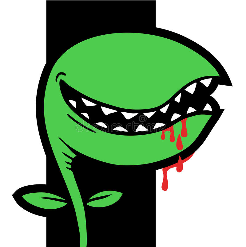 Terror plant. Creative design of terror plant royalty free illustration