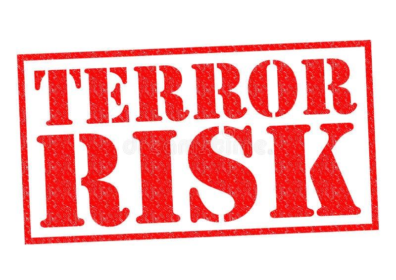 TERROR RISK. Red Rubber Stamp over a white background vector illustration
