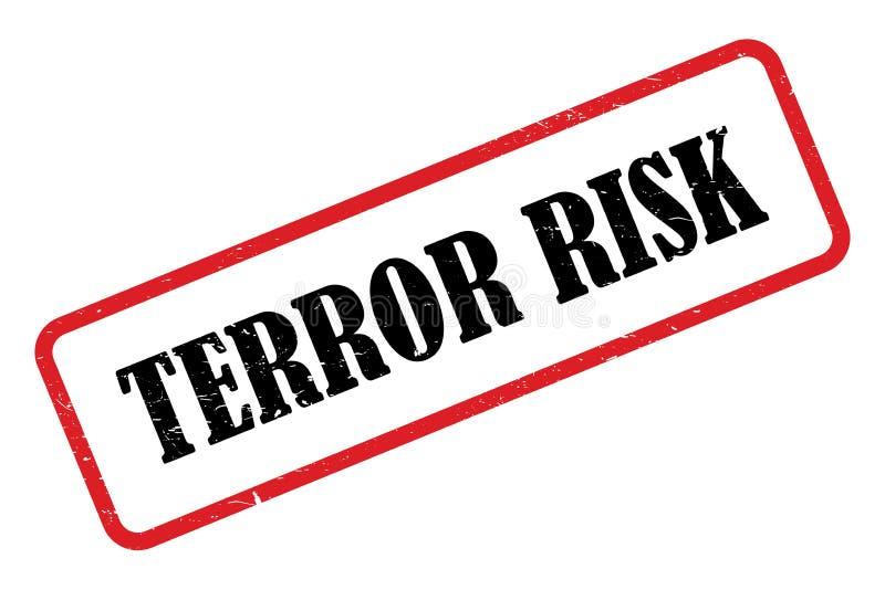 Terror risk stamp. On white background stock illustration