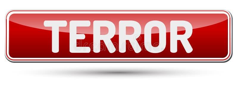 TERRORE - Bello bottone astratto con testo illustrazione di stock
