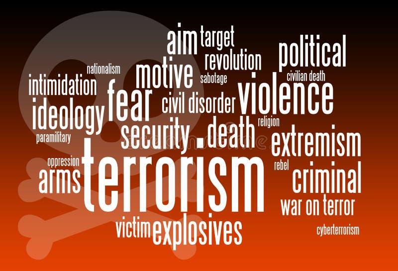 terrorism royaltyfri illustrationer
