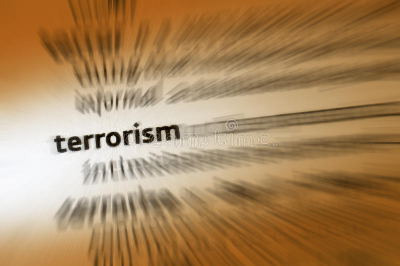 Terrorism - Terrorist. Terrorism is the use of violence and intimidation in the pursuit of political or religious aims stock images