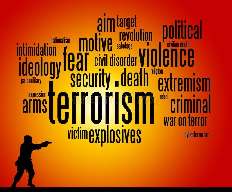 terrorisme illustration stock