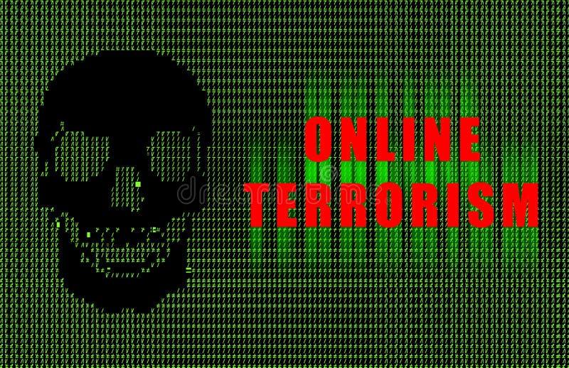 Terrorisme en ligne illustration libre de droits
