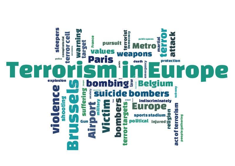 Terrorisme in Europa stock illustratie