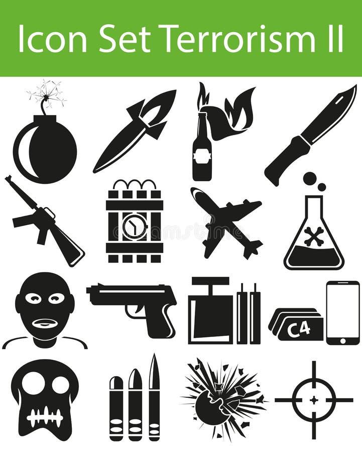 Terrorisme réglé II d'icône illustration libre de droits