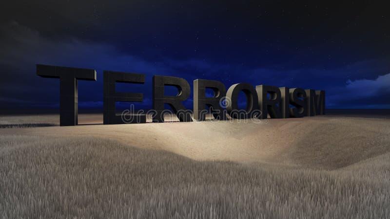 terrorismo ilustración del vector