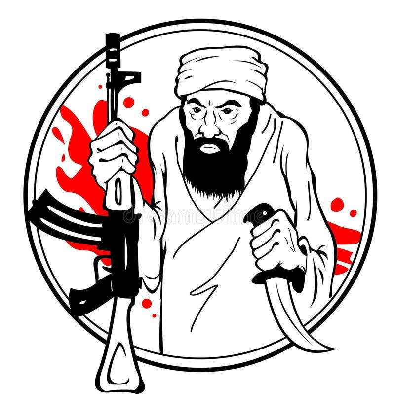 Terrorist vektor illustrationer