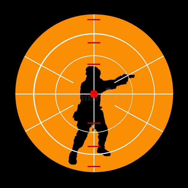 terrorist royaltyfri illustrationer