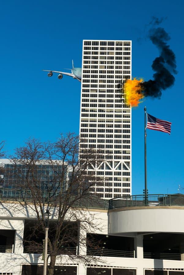 911 terrorist Attack, de Oorlog van Amerika royalty-vrije stock foto's