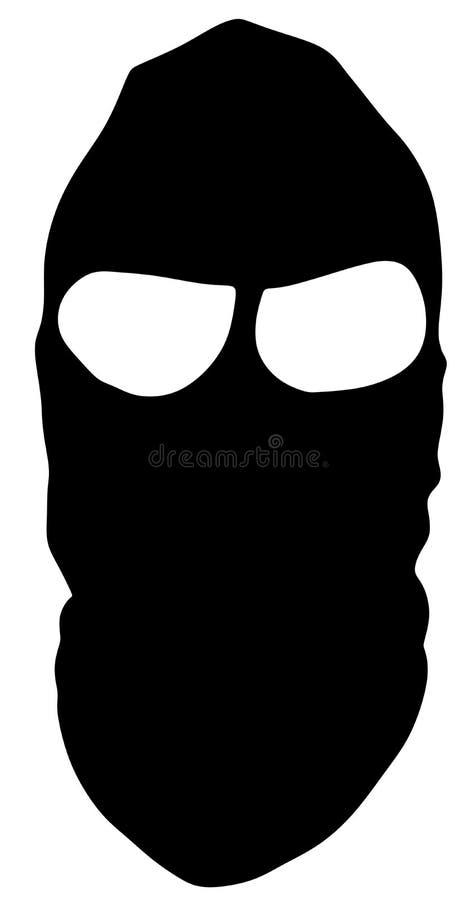 Robber, stealer in phantom mask. stock illustration