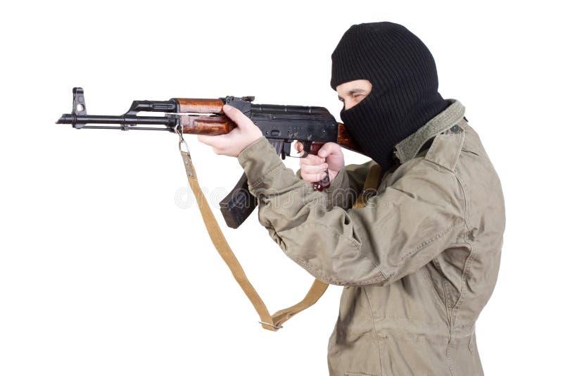Terrorist shoting stock photos