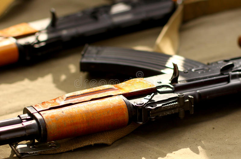 Terrorist Weapons military background stock photography
