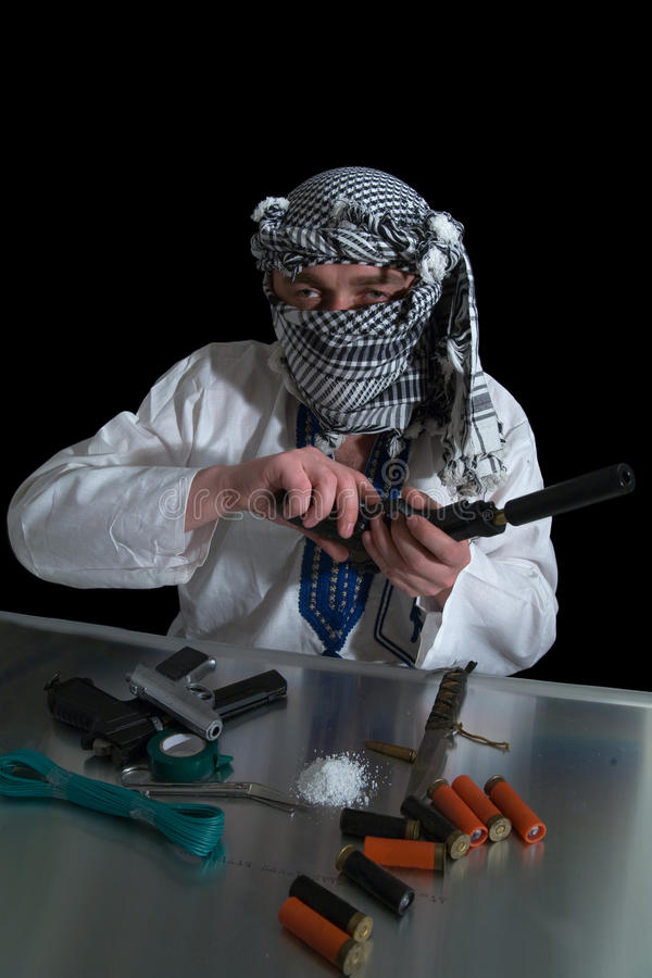 Free Terrorist With Gun Stock Photos - 9662323