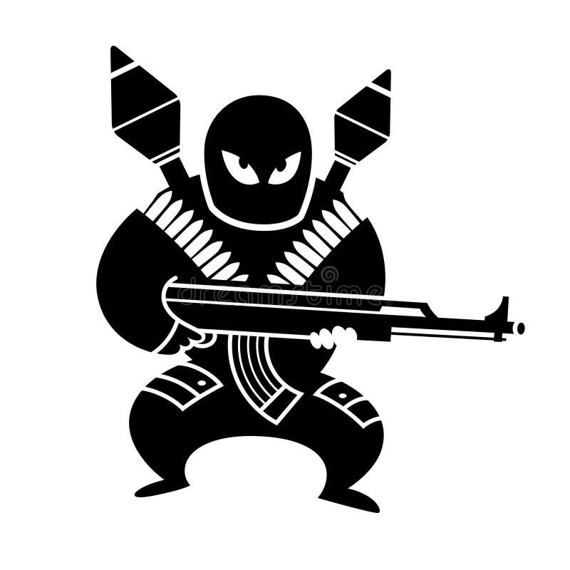 terrorista stock de ilustración