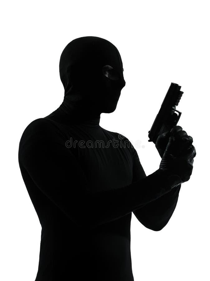 Terrorista del criminale del ladro immagine stock