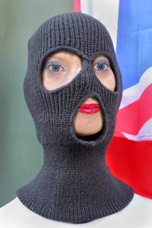 Terrorista femminile fotografia stock libera da diritti
