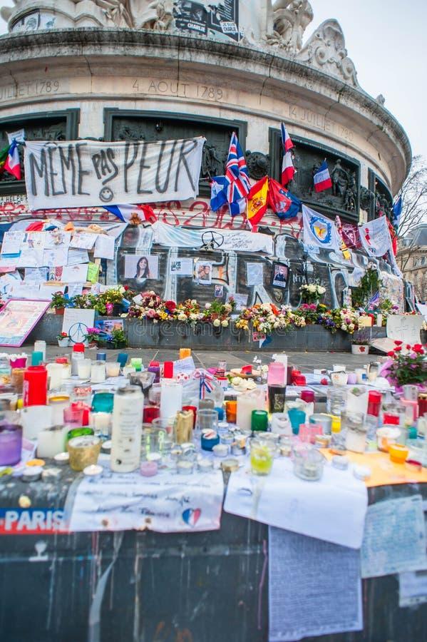 Terroriste Attacks Remembrance de Paris image stock