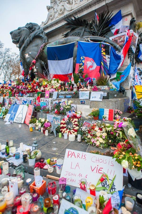 Terroriste Attacks Remembrance de Paris images stock