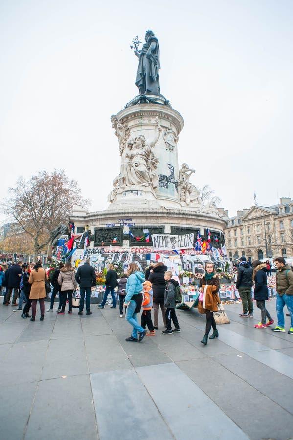 Terroriste Attacks Remembrance de Paris image libre de droits