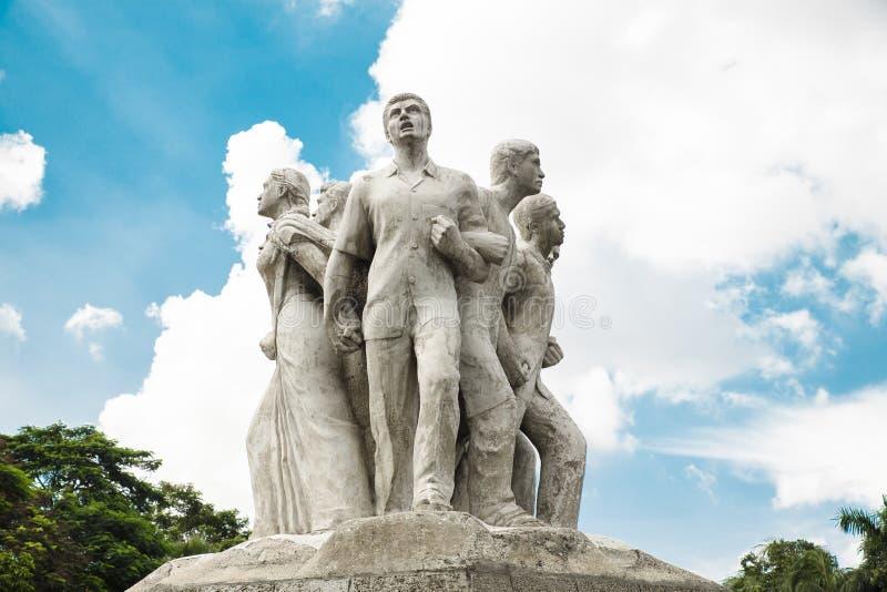 Terroristenbekämpfung Raju Memorial Sculpture stockfoto