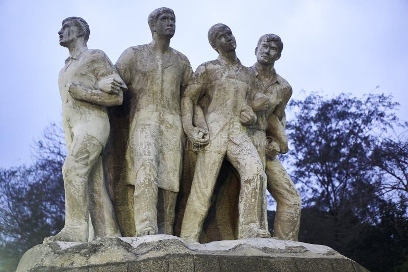 Terroristenbekämpfung Raju Memorial Sculpture in lizenzfreies stockbild