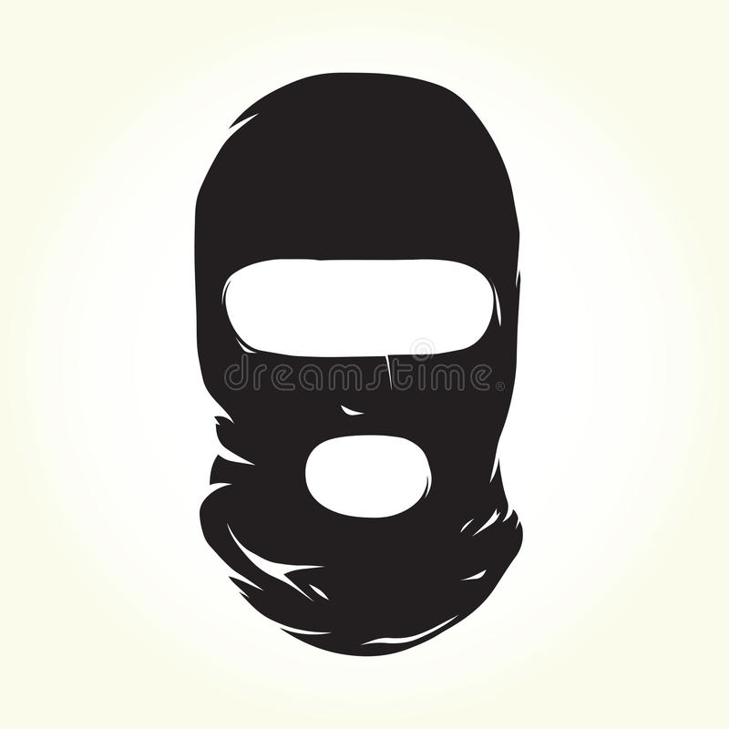 Terroristenmasker stock illustratie