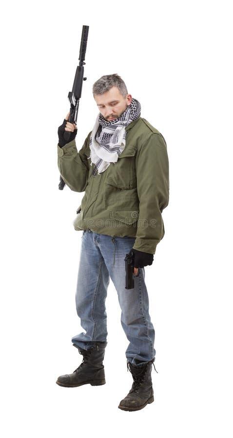 terroristvapen royaltyfri bild