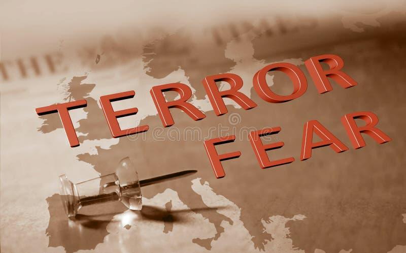 Terroru strach w Europa obrazy stock